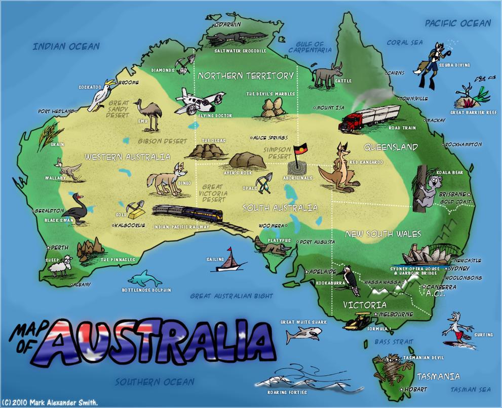 Map Of Australia by FreyFox on DeviantArt