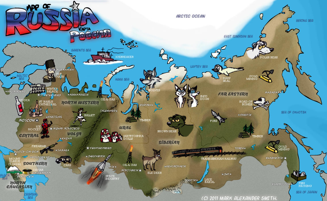 Map Of Russia by FreyFox on DeviantArt