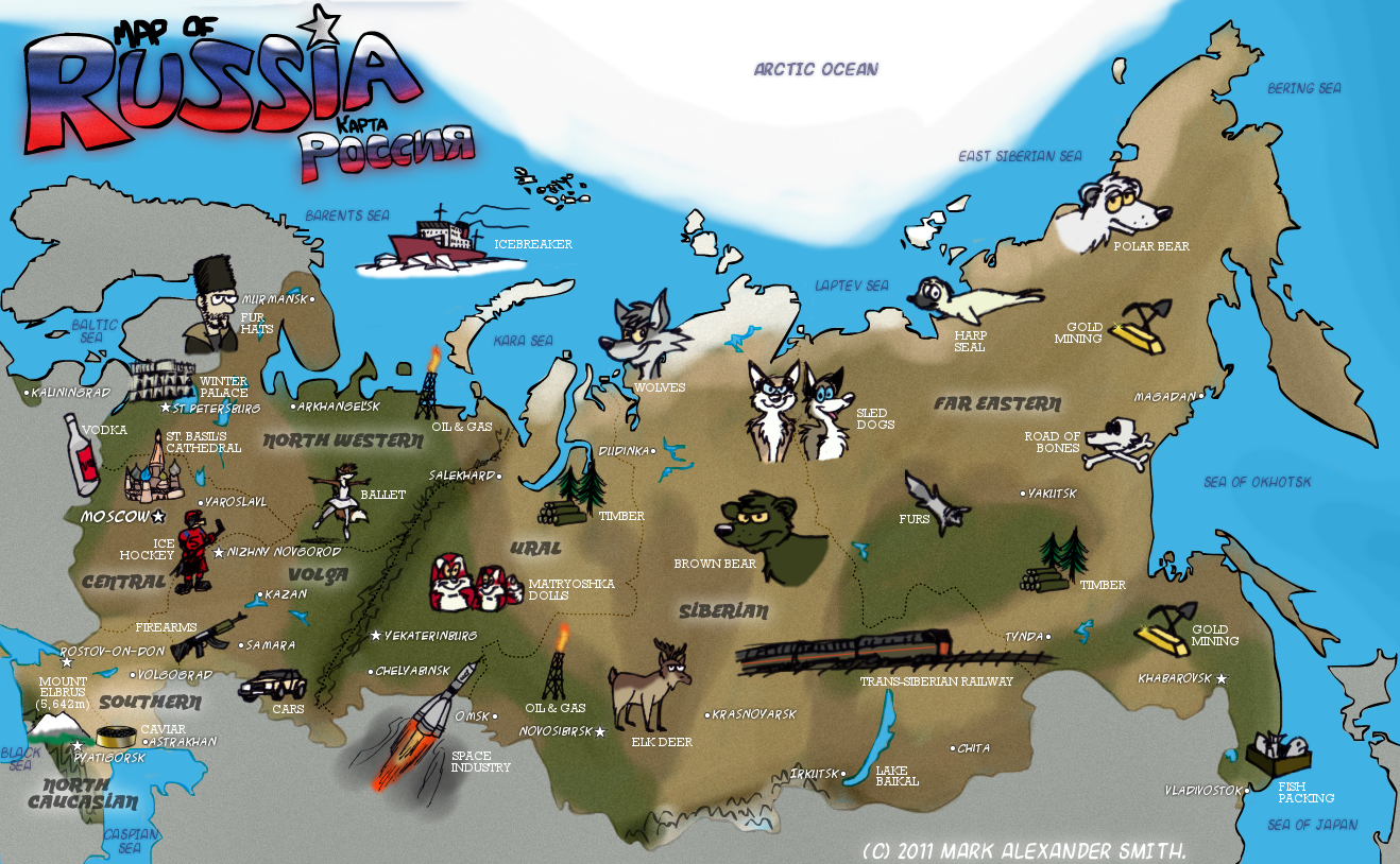 Map Of Russia By FreyFox On DeviantArt - Russia mao