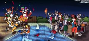 Suburban Pool Party