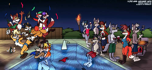 Suburban Pool Party by FreyFox