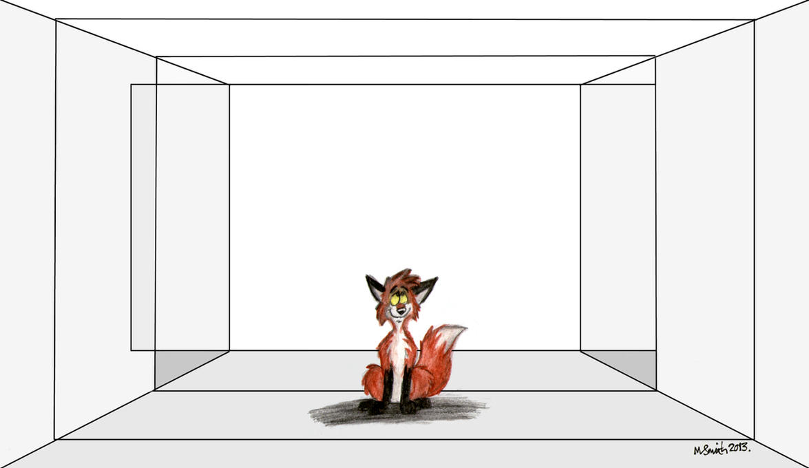 Fox In An Empty Space By Freyfox On Deviantart