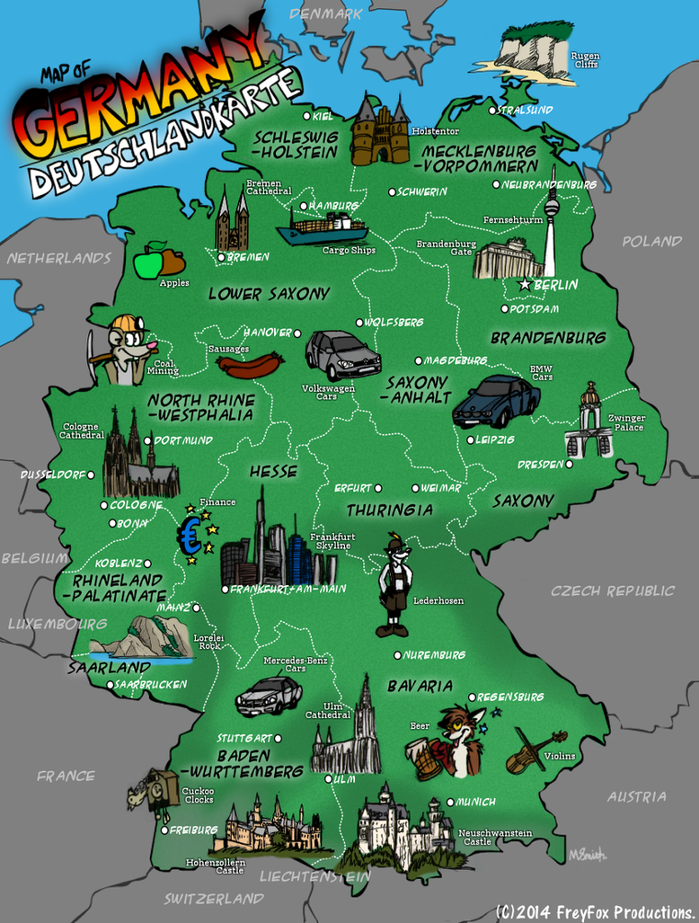 map of germany by freyfox