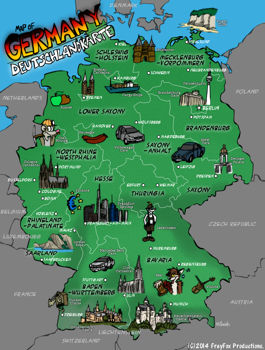 ... Map Of Germany by FreyFox