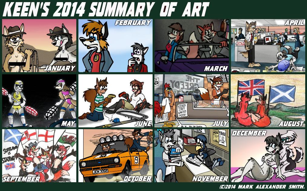 2014 Summary Of Art by FreyFox
