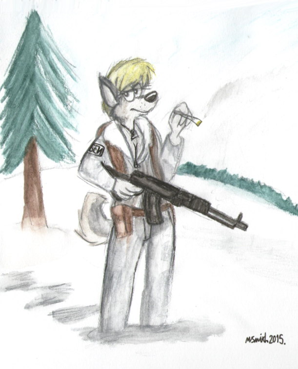 Snow Dog by FreyFox