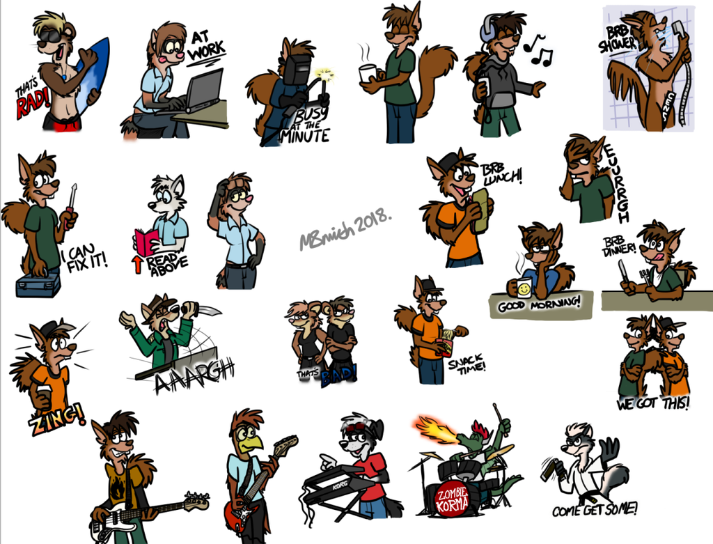 Transmission Telegram Stickers by FreyFox