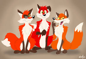 The Fox Trio by FreyFox