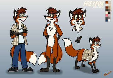 FreyFox Model Sheet, 2019 Edition by FreyFox