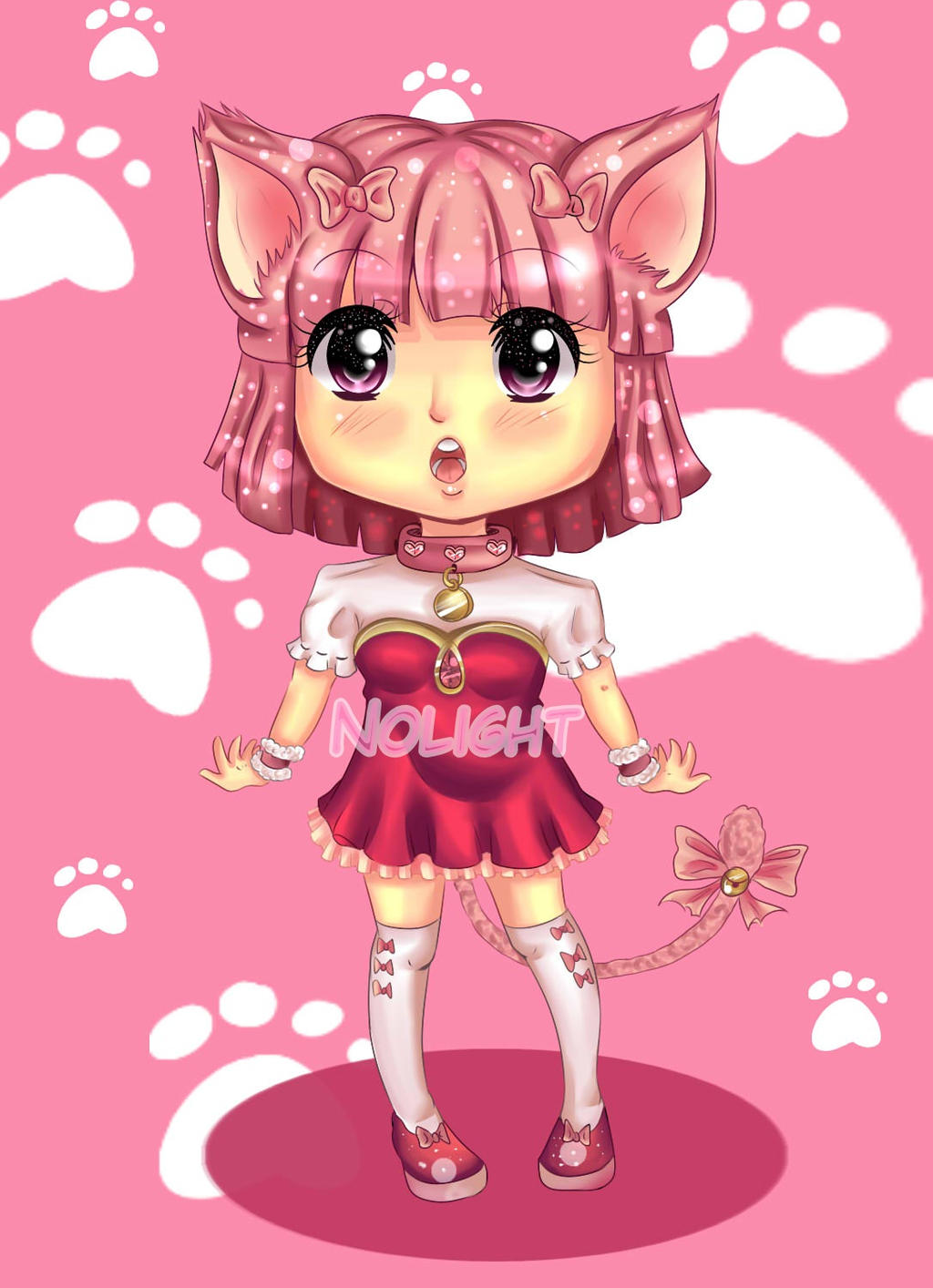 SweetNeko adoptable - Lizzie by NoLightArtist