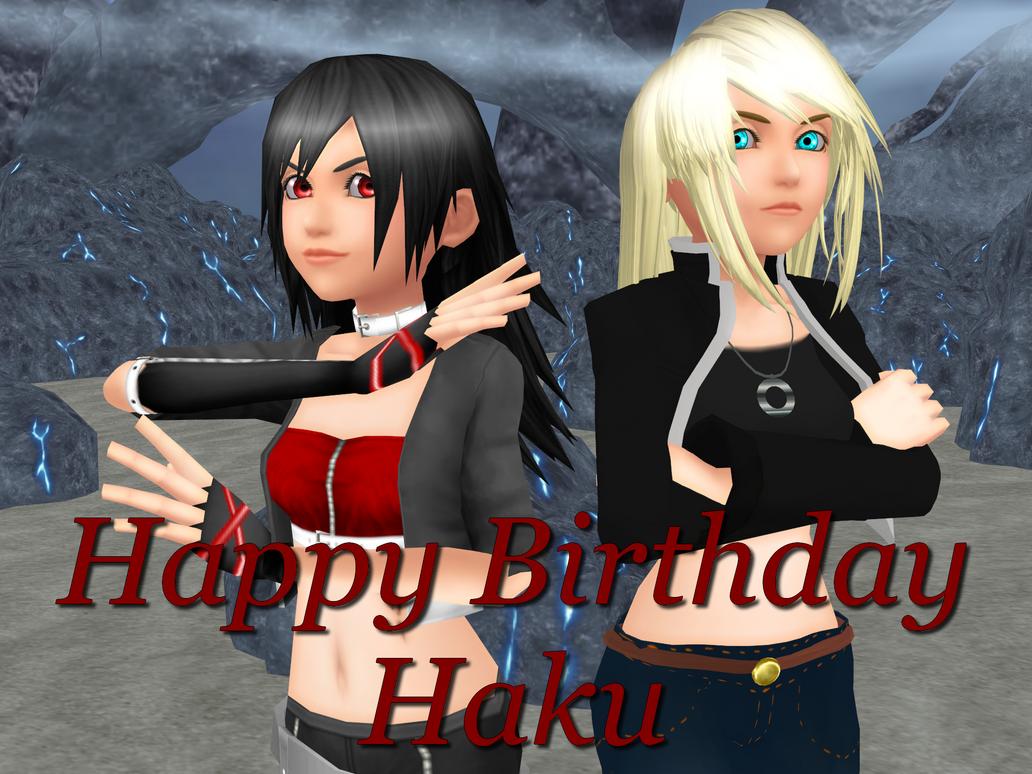 Happy Birthday HakuMizuki!! by TemmieVega1999