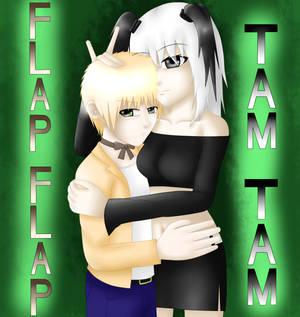 Flap-Flap and Tam-Tam (plush bears)