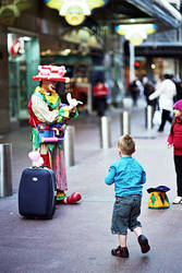 Pitt Street Clown 2 by mfunnell