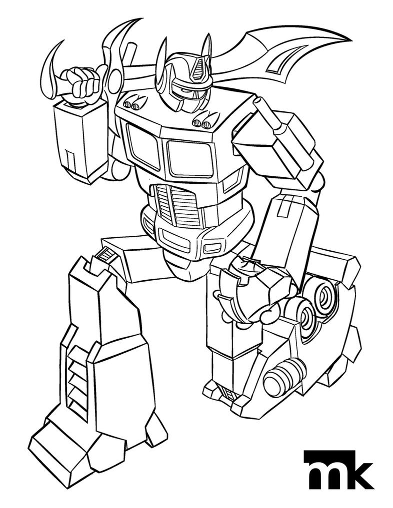 optimus prime coloring pages printable | Optimus Prime - Coloring Page by markpkelly on DeviantArt