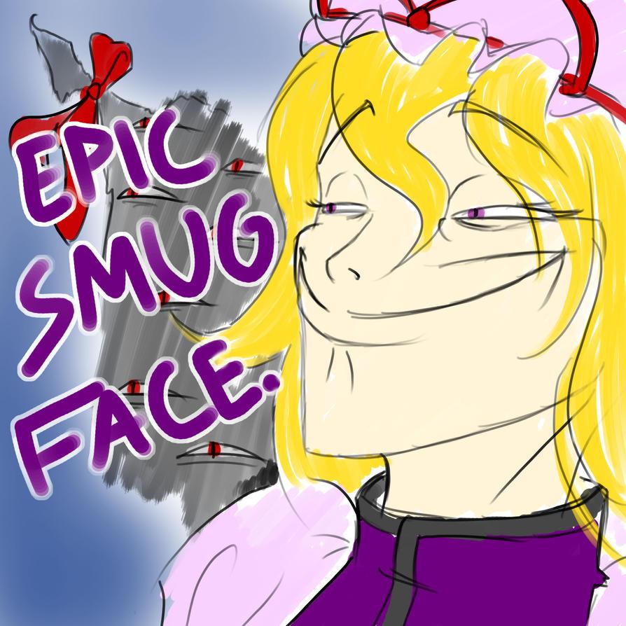 Yukari's smug face. by chioi-tempest