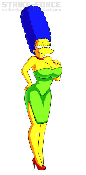 Busty Marge Simpson