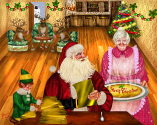 Santa Claus Merry Christmas by kittychiii
