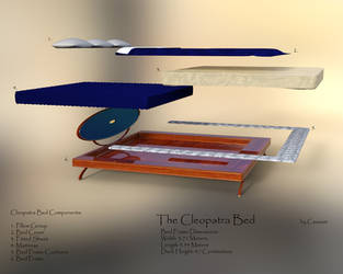 Cleopatra Bed by Causa-Commixtio