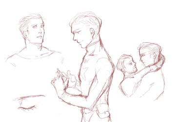 practicing steve and tony