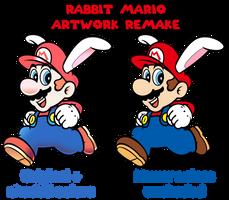 Rabbit Mario artwork remake by GustlyWind