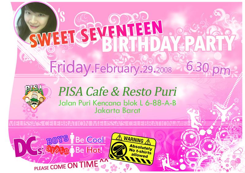 sweet 17 invitation by rogenfx on DeviantArt