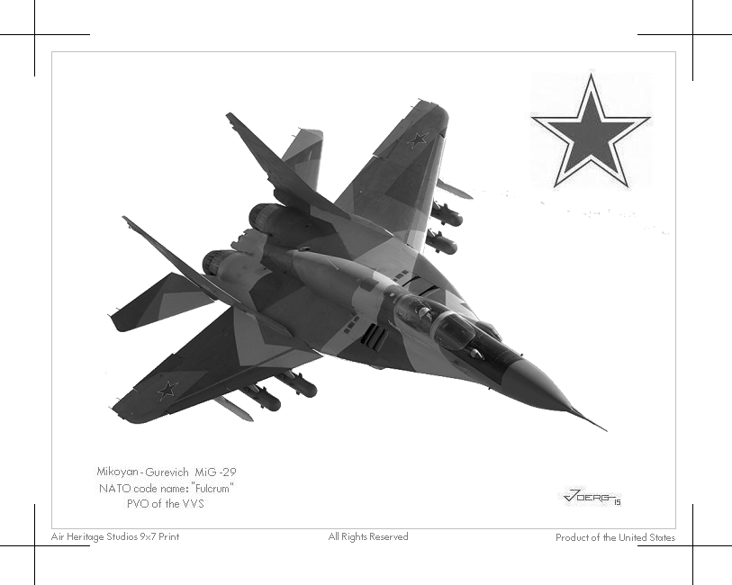 MiG-29 Fulcrum by Hun100D