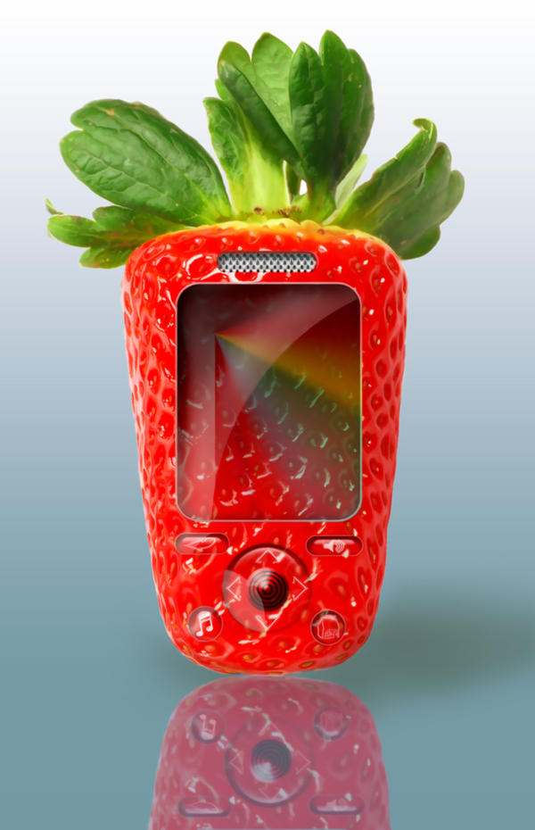 Strawberry Phone by AriadneInLove
