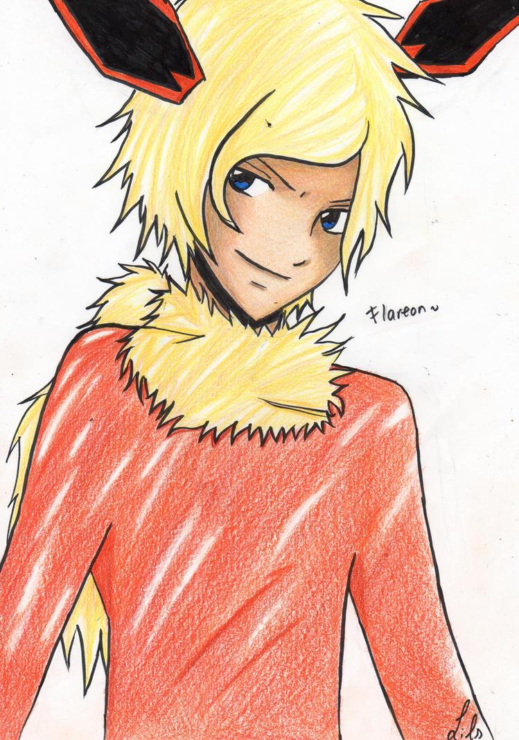 Flareon human version by Mitsukichan17 on DeviantArt