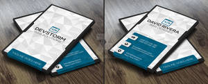 White Modern Business Card Template