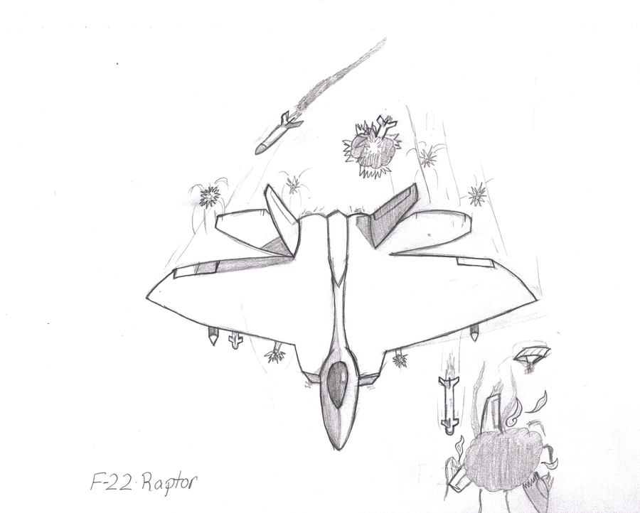 f 22 raptor coloring pages - photo #43
