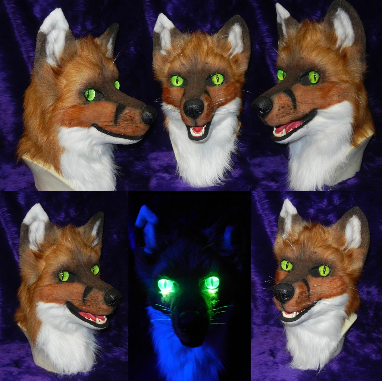 Fox head by DrakonicKnight