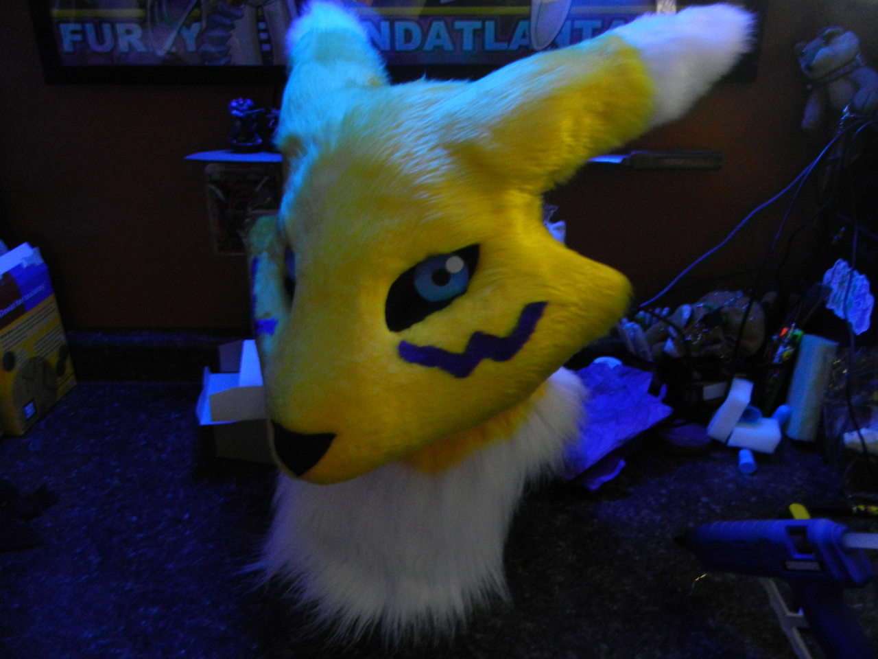 Renamon head WIP 2 by DrakonicKnight