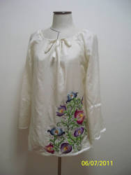 Mom's Embroidered Blouse by lyrakristine