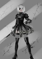 NieR: Automata 2b by DEmerald