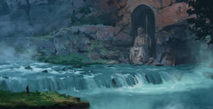 waterfall gate