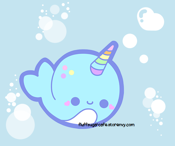 Pixie the candy narwhal by silvertonguev on deviantart - Cute narwhal wallpaper ...