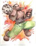 FF7 Barret Watercolour