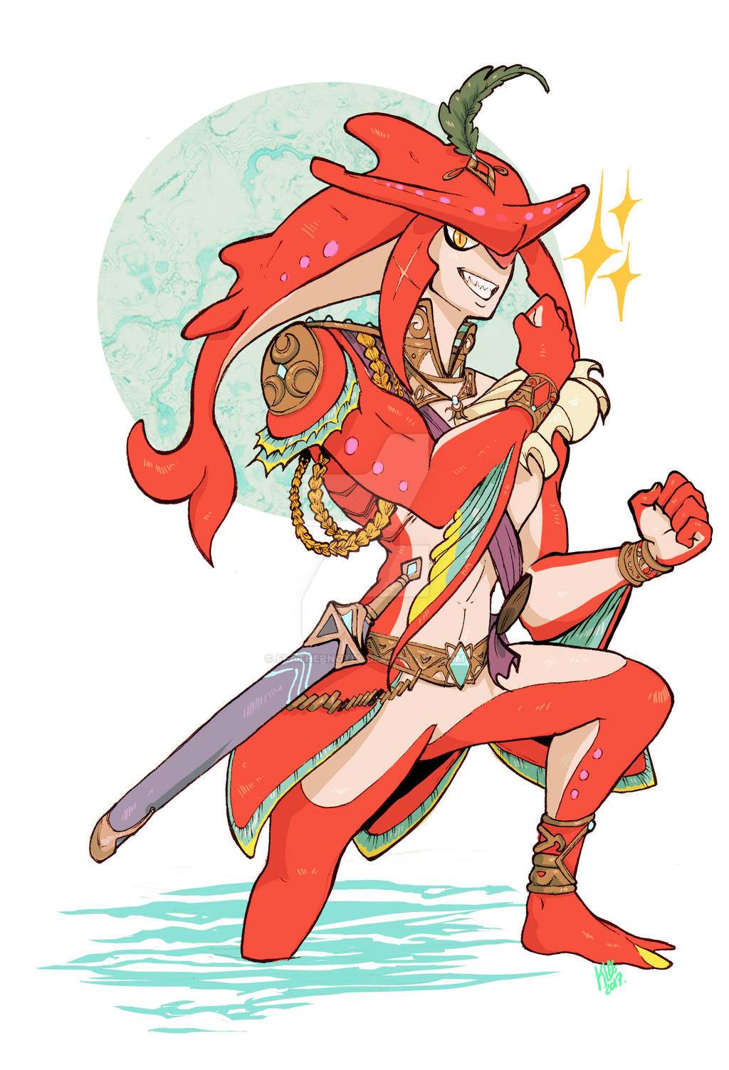 Sidon Botw By Feathernotes Watch Fan Art Digital Drawings Games