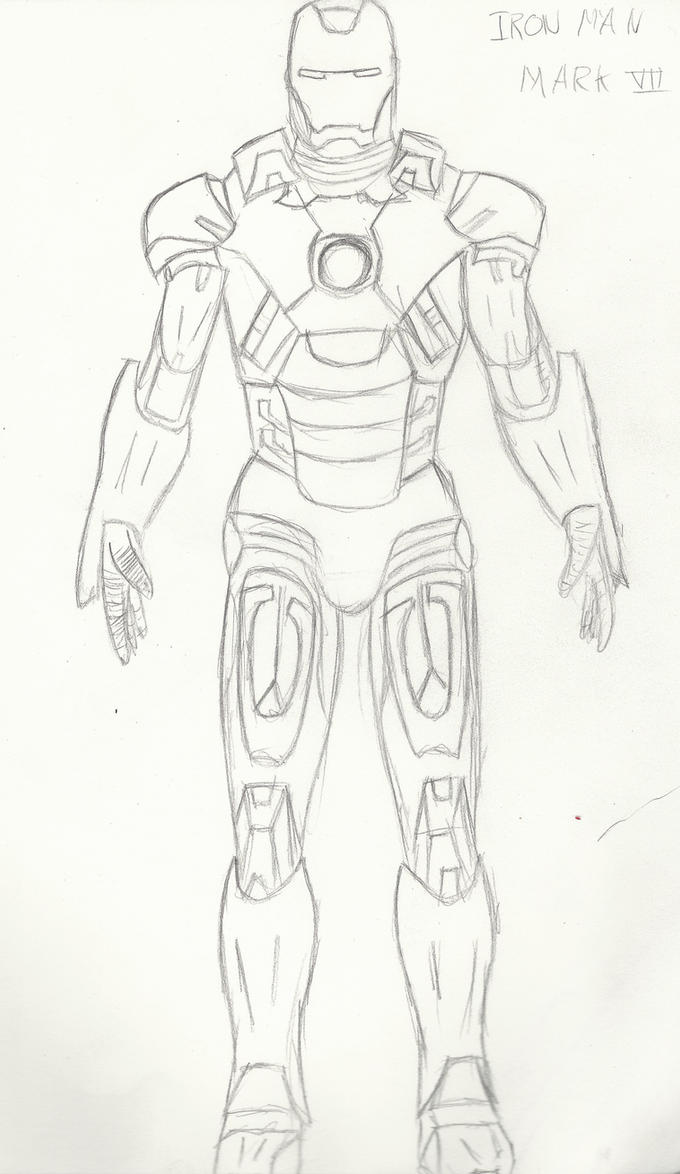 Iron Man Sketch 1 by cozacam on DeviantArt