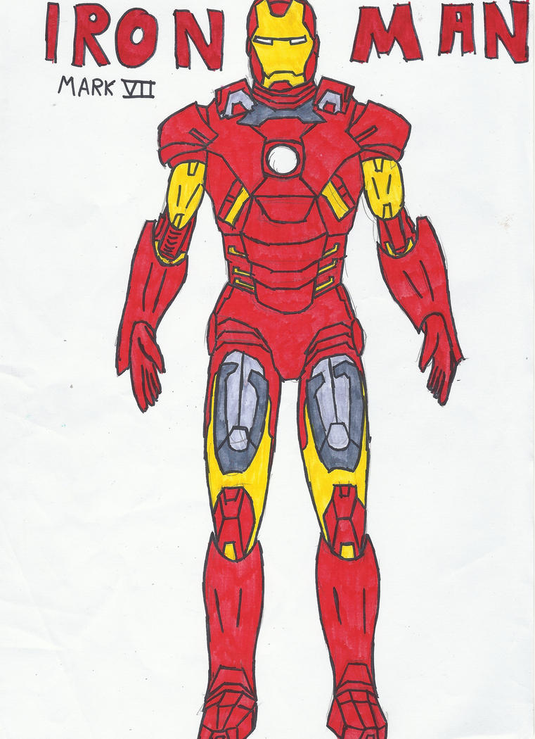 Iron Man re-draw + Color by Cordan-Wraith on DeviantArt
