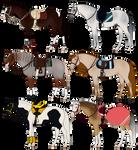 Horse + Tack Adoptables 1 [0/6 CLOSED]