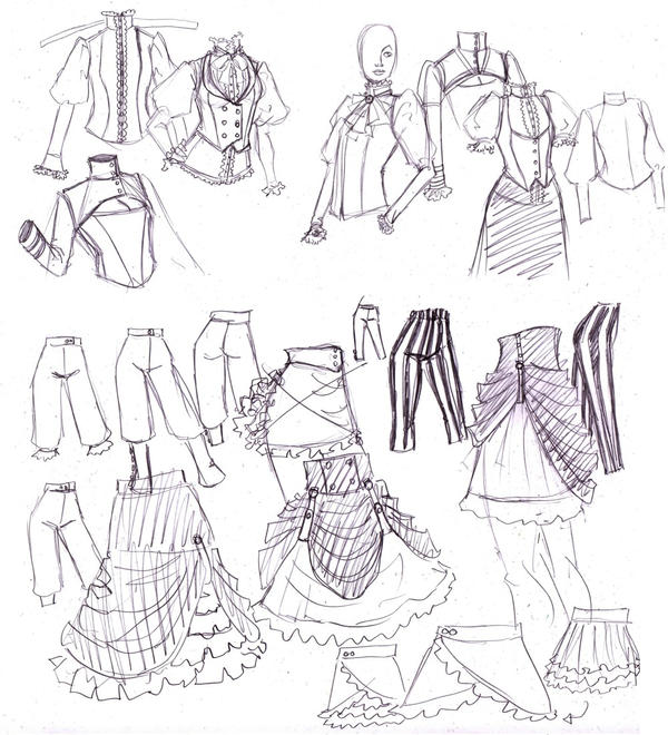 fashion sketches by omegasama on deviantart