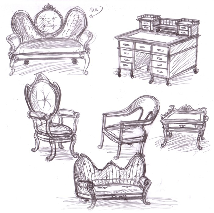 Victorian Furniture Sketches By Omegasama ...
