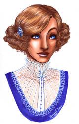 Lady Blue Eyes by omegasama