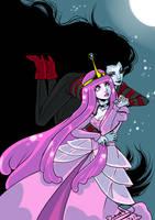 Marceline and Bubblegum by omegasama