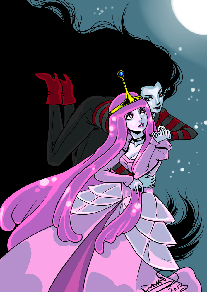 adventure time marceline and princess bubblegum