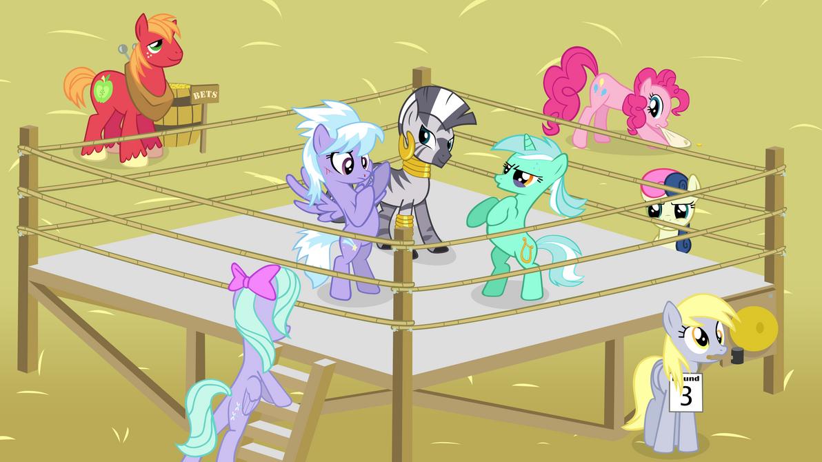 best_pony_battle__lyra_vs_cloudchaser_by