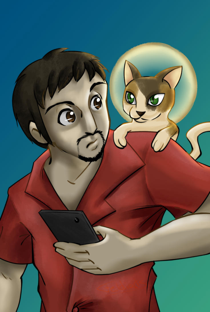 Fanart - The Holy Cat and his Human Slave by Feldiarts