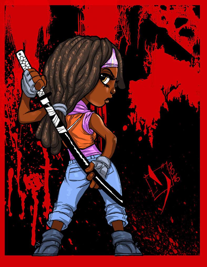 Michonne  by Ypslon