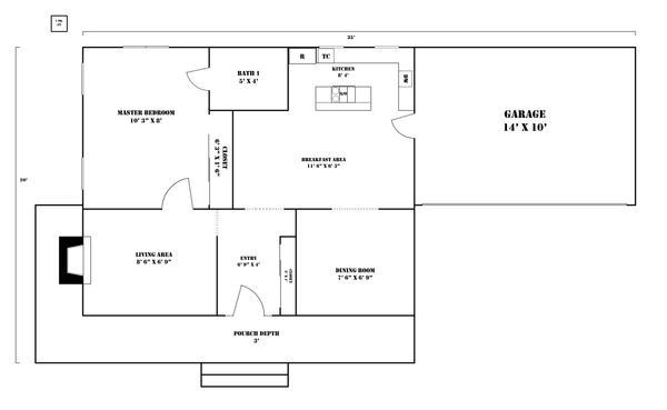 Minimal living house plan by moriko wolf on deviantart for Minimal house plan